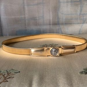 Accesocraft Gold Tone Elastic Belt